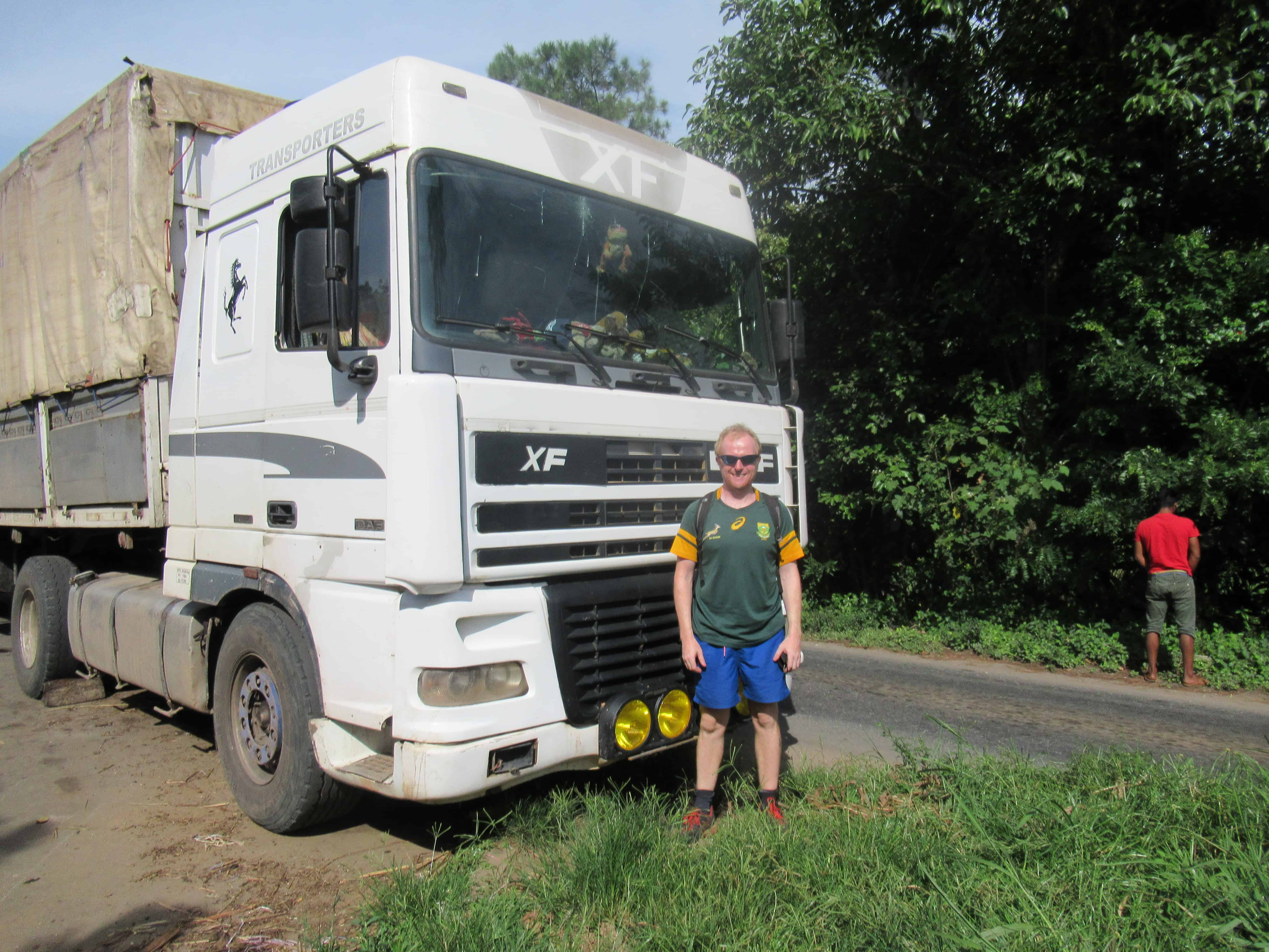 How to get around Madagascar:  Truck is one way!