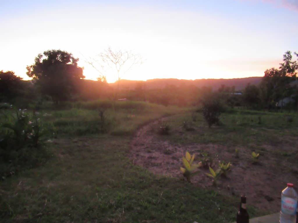 Sunset view for bungalow near Isalo.